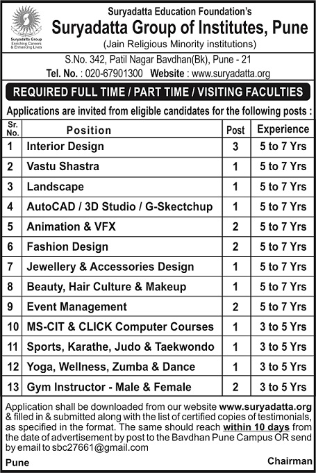 Full Time Part Time Visiting Faculty careers