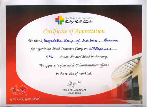 Blood Donation Camp 3rd sep 2016